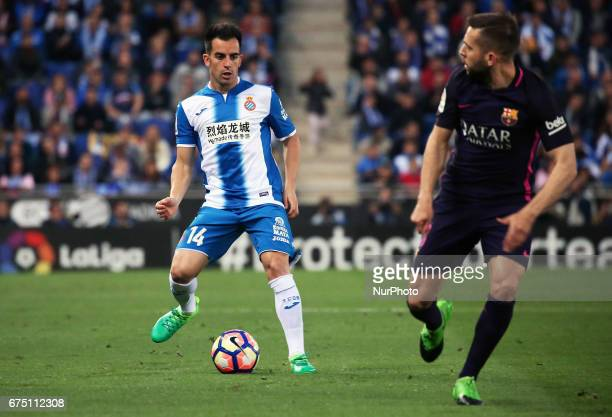 Jose Manuel Jurado during the match between RCD Espanyol and FC Barcelona on April 29 2017