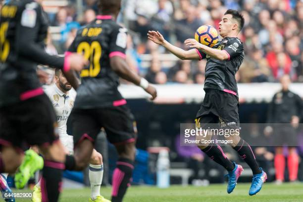 Jose Manuel Jurado Marin of RCD Espanyol catches the ball during the match Real Madrid vs RCD Espanyol a La Liga match at the Santiago Bernabeu...