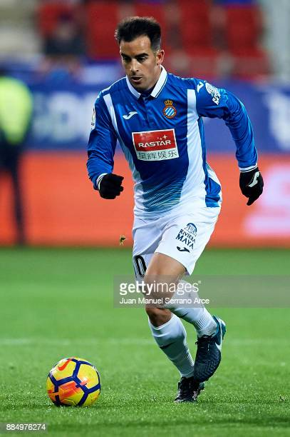 Jose Manuel Jurado Marin of RCD Espanyol controls the ball during the La Liga match between SD Eibar and RCD Espanyol at Ipurua Municipal Stadium on...