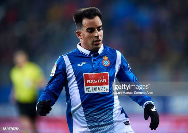 Jose Manuel Jurado Marin of RCD Espanyol reacts during the La Liga match between SD Eibar and RCD Espanyol at Ipurua Municipal Stadium on December 3...