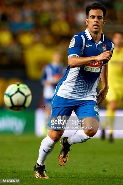 Jose Manuel Jurado of Espanyol in action during the La Liga match between Villarreal and Espanyol at Estadio De La Ceramica on September 21 2017 in...