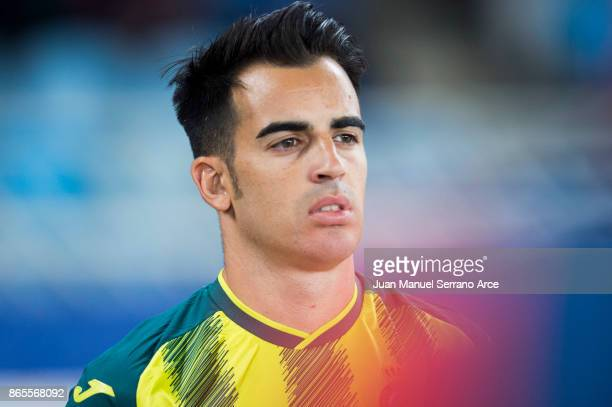 Jose Manuel Jurado of RCD Espanyol looks on prior to the start the La Liga match between Real Sociedad de Futbol and RCD Espanyol at Estadio Anoeta...