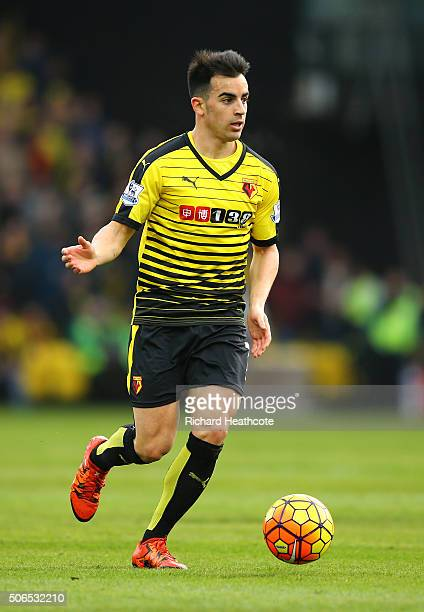 Jose Manuel Jurado of Watford during the Barclays Premier League match between Watford and Newcastle United at Vicarage Road on 23 January 2016 in...
