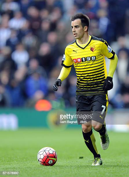 Jose Manuel Jurado of Watford in action during the Barclays Premier League match between West Bromwich Albion and Watford at The Hawthorns on April...