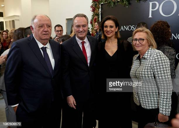 Jose Manuel Llaneza Alberto Fabra and Silvia Jato attend the opening of the new Porcelanosa store on December 14 2018 in Castellon de la Plana Spain