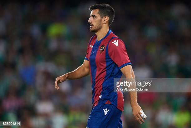 Jose Manuel Rodriguez 'Chema' of Levante UD looks on during the La Liga match between Real Betis and Levante at Estadio Benito Villamarin on...