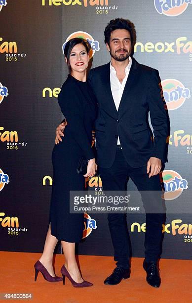 Jose Manuel Seda and Noemi Ruiz attend 2015 Neox Fan Award on October 28 2015 in Madrid Spain