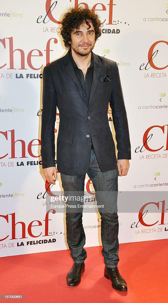 Jose Manuel Seda attends 'El Chef, La Receta de la Felicidad' premiere on November 26, 2012 in Madrid, Spain.