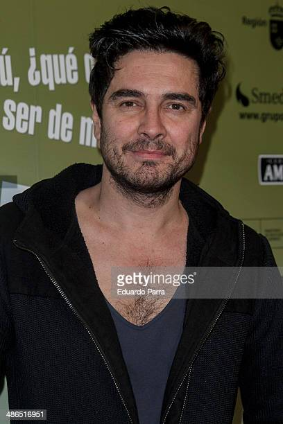 Jose Manuel Seda attends 'La Vida Resuelta' premiere photocall at Santa Isabel theatre on April 24 2014 in Madrid Spain