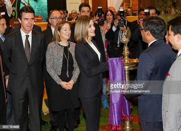 Jose Manuel Soria Ana Pastor and Queen Letizia of Spain attend FITUR International Tourism Fair opening at Ifema on January 20 2016 in Madrid Spain