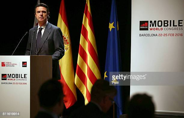 Jose Manuel Soria attends Mobile World Congress Official Dinner Inuguration at the Gran Teatre del Liceu on February 21 2016 in Barcelona Spain