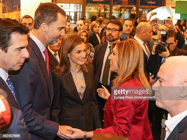 Jose Manuel Soria King Felipe VI of Spain Queen Letizia of Spain and Susana Diaz attend 'FITUR' International Tourism Fair opening at Ifema on...