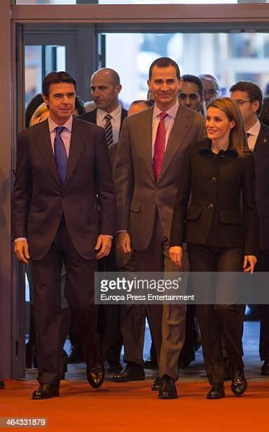 Jose Manuel Soria Prince Felipe of Spain and Princess Letizia of Spain attend 'FITUR' International Tourism Fair on January 22 2014 in Madrid Spain