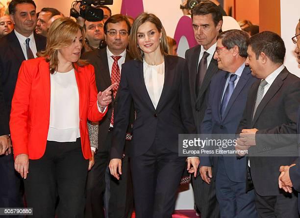 Jose Manuel Soria Susana Diaz and Queen Letizia attend FITUR International Tourism Fair opening at Ifema on January 20 2016 in Madrid Spain