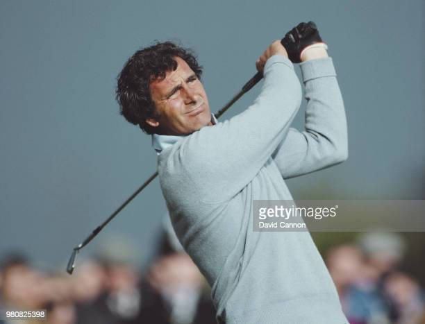Jose María Canizares of Spain with an iron shot during the 112th Open Championship on 14 July 1983 at the Royal Birkdale Golf Club in Southport...