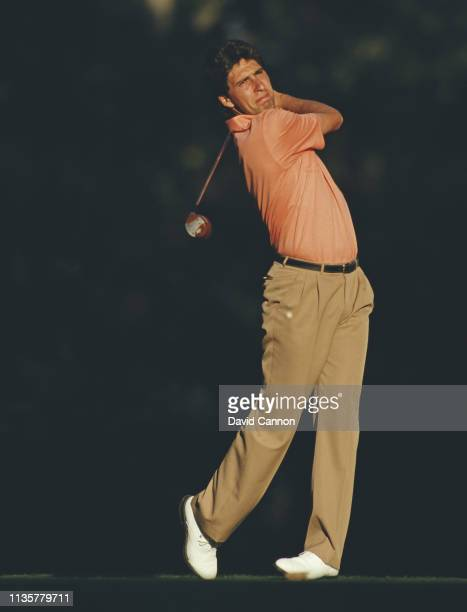 Jose María Olazabal of Spain and Europe at the 15th tee during the 27th Ryder Cup Matches on 26 September 1987 at the Muirfield Village in Dublin...