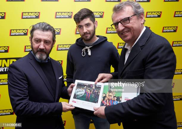 Jose Mari Bakero Jon Bakero and Santi Nolla attends the Barcelona Open Banc Sabadell 2019 at Real Club de Tennis de Barcelona on April 22 2019 in...