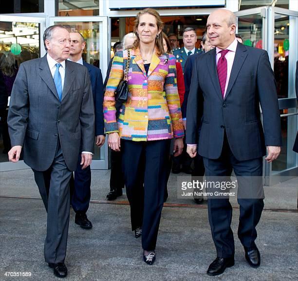 Jose Maria Alvarez del Manzano Princess Elena of Spain and Jose Ignacio Wert attend 'AULA Fair' at Ifema on February 19 2014 in Madrid Spain