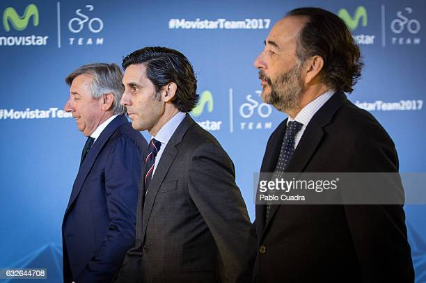 Jose Maria AlvarezPallete attends the Cycling Movistar Team Presentation at Telefonica headquarters in Madrid on January 25 2017 in Madrid Spain