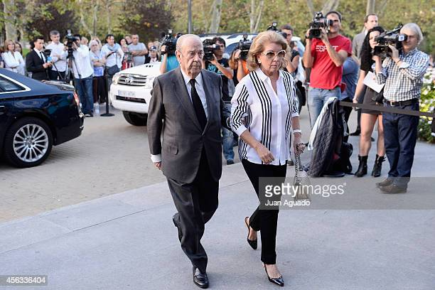 Jose Maria Amusategui attends Parque San Isidro Cemetery following the death of Miguel Boyer on September 29 2014 in Madrid Spain Spanish politician...