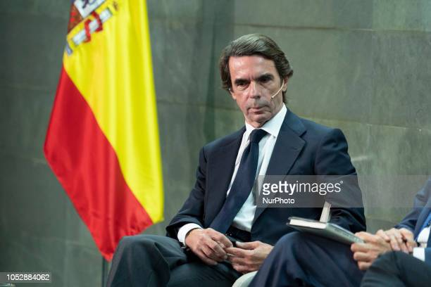 Jose Maria Aznar during the presentation of the book THE FUTURE IS TODAY by the author JOSE MARIA AZNAR EN in Madrid Spain on October 23 2018
