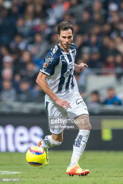 Jose Maria Basanta of Monterrey drives the ball during the third round match between Monterrey and Tijuana as part of Torneo Clausura 2018 Liga MX at...