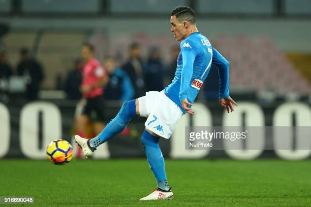 Jose Maria Callejon of Napoli scoring the goal of 11 during the serie A match between SSC Napoli and SS Lazio at Stadio San Paolo on February 10 2018...