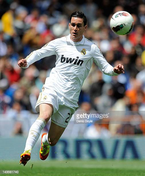 Jose Maria Callejon of Real Madrid CF in action during the La Liga match between Real Madrid CF and Sevilla FC at Estadio Santiago Bernabeu on April...