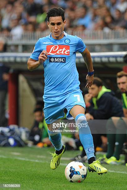 Jose Maria Callejon of SSC Napoli in action during the Serie A match between Genoa CFC and SSC Napoli at Stadio Luigi Ferraris on September 28 2013...