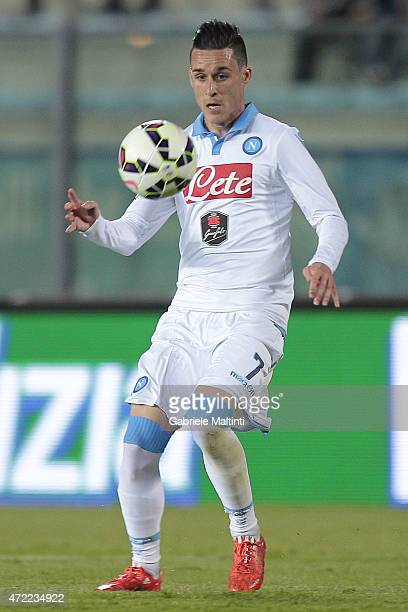 Jose' Maria Callejon of SSC Napoli in action during the Serie A match between Empoli FC and SSC Napoli at Stadio Carlo Castellani on April 30 2015 in...