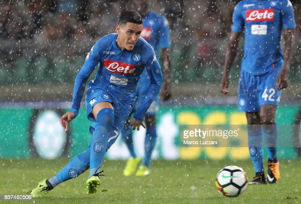 Jose Maria Callejon of SSC Napoli in action during the Serie A match between Hellas Verona and SSC Napoli at Stadio Marcantonio Bentegodi on August...