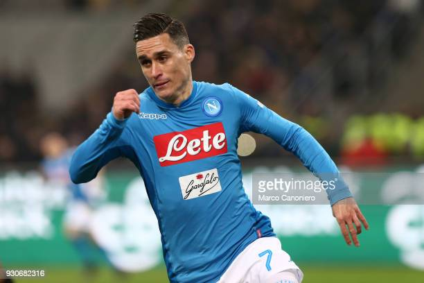 Jose Maria Callejon of Ssc Napoli in action during the Serie A football match between Fc Internazionale and Ssc Napoli The final score was 00