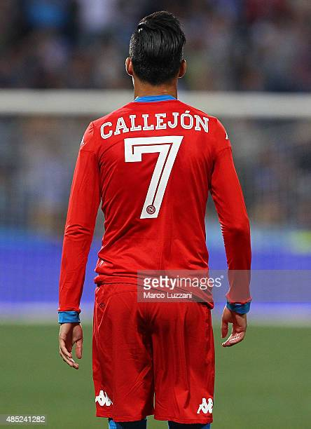Jose Maria Callejon of SSC Napoli looks on during the Serie A match between US Sassuolo Calcio and SSC Napoli at Mapei Stadium Città del Tricolore on...