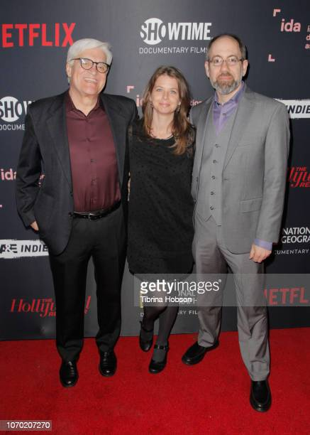 Jose Maria 'Chato' Galante Almudena Carracedo and Robert Bahar of 'The Silence Of Others' attends the 2018 IDA Documentary Awards on December 8 2018...