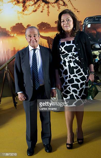 Jose Maria Garcia and his wife Montse Fraile attend Nuba New Travel Collection 20112012 at Museo de Ciencias Naturales on May 10 2011 in Madrid Spain