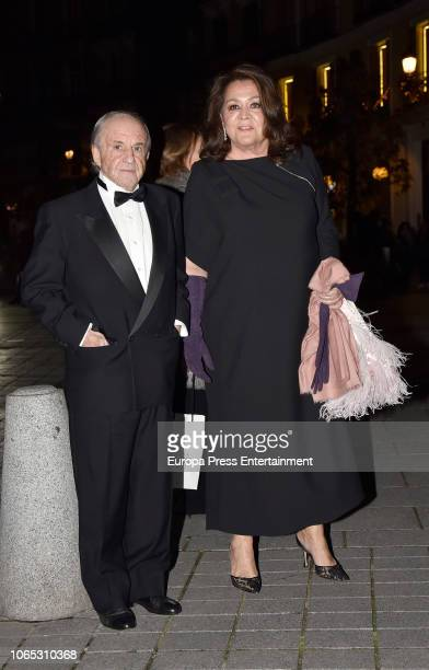 Jose Maria Garcia and Monserrat Fraile attend Luis Garcia Fraile's 40 birthday at Royal Theatre on November 24 2018 in Madrid Spain