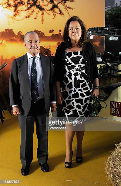 Jose Maria Garcia and Montse Fraile attend the launch of 'Nuba New Travel Collection 20112012' at the Museo Nacional de Ciencias Naturales on May 10...