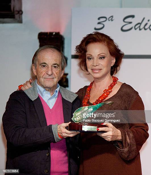 Jose Maria Garcia and Paloma San Basilio attend the 'Pata Negra' Awards at Corral de la Moreria on February 21 2013 in Madrid Spain