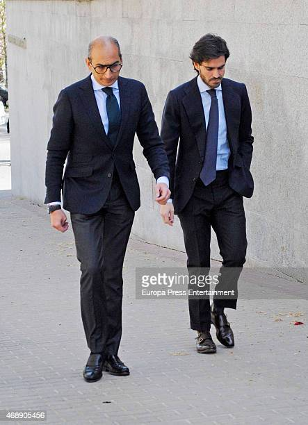 Jose Maria Garcia Fraile attends the funeral chapel for Prince Kardam of Bulgaria on April 8 2015 in Madrid Spain