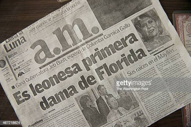 Jose Maria Garnica Lopez kept a Leon Mexico newspaper dated November 4 1998 announcing that Columba Bush became the First Lady of then Florida...
