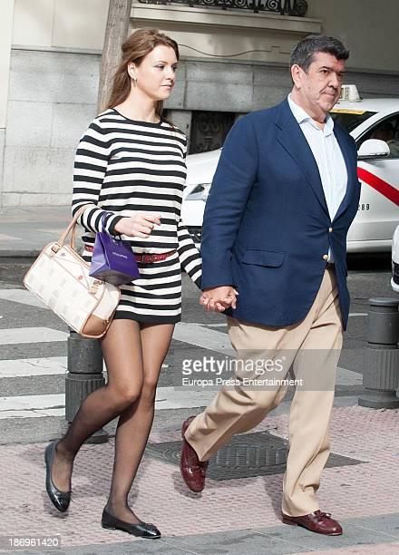 Jose Maria Gil Silgado and Maria Jesus Ruiz are seen on October 21 2013 in Madrid Spain
