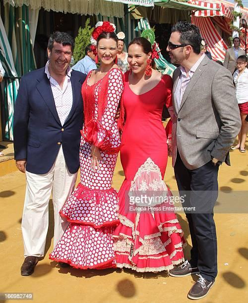 Jose Maria Gil Silgado Maria Jesus Ruiz Chayo Mohedano and Andres Fernandez attend April's Fair on April 18 2013 in Seville Spain