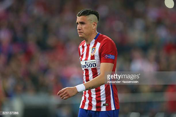 Jose Maria Gimenez of Atltetico looks on during the UEFA Champions League semi final first leg match between Club Atletico de Madrid and FC Bayern...