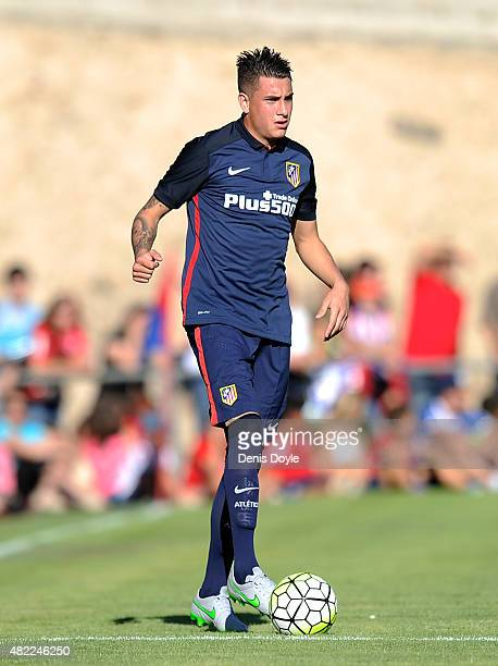 Jose Maria Gimenez of Club Atletico de Madrid in action during the Jesus Gil y Gil Memorial preseason friendly match between Numancia and Club...