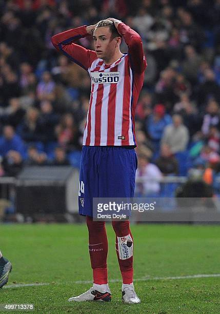 Jose Maria Gimenez of Club Atletico de Madrid reacts during the La Liga match between Club Atletico de Madrid and Real CD Espanyol at Vicente...