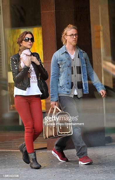 Jose Maria Gutierrez 'Guti' and Romina Belluscio are seen going for shopping on January 14 2012 in Ibiza Spain