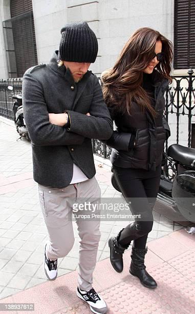 Jose Maria Gutierrez 'Guti' and Romina Belluscio are seen on February 8 2012 in Madrid Spain