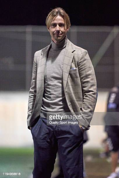 Jose Maria Gutierrez 'Guti', head coach of Almeria reacts during the match between UD Tamaraceite and Almeria at Estadio Juan Guedes on December 19,...