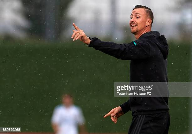 Jose Maria Gutierrez Guti, Manager of Real Madrid reacts during the UEFA Youth Champions League group H match between Real Madrid and Tottenham...