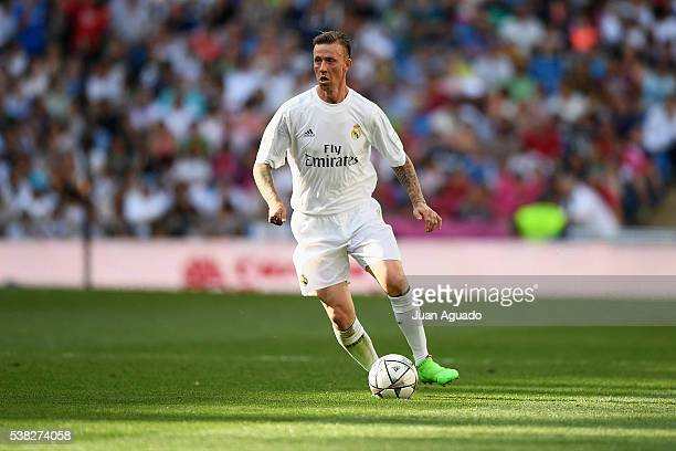 Jose Maria Gutierrez Guti of Real Madrid Leyendas in action during the Corazon Classic charity match between Real Madrid Leyendas and Ajax Legends at...